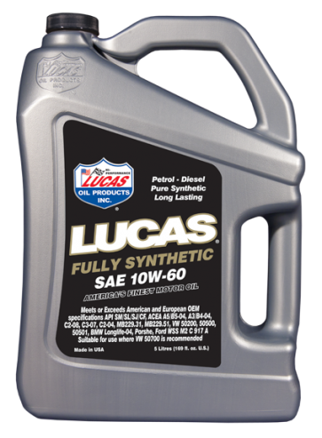 Lucas Oils Synthetic High Performance Engine Oil 10w60