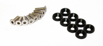 Anodised Aluminium Countersunk Wing Washers With Screws
