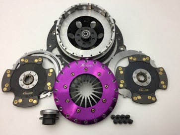 Xtreme Clutch Conversion Kit - 230mm Twin Plate Carbon Rigid With Adapter Plate & Bolts - 2JZ/E46