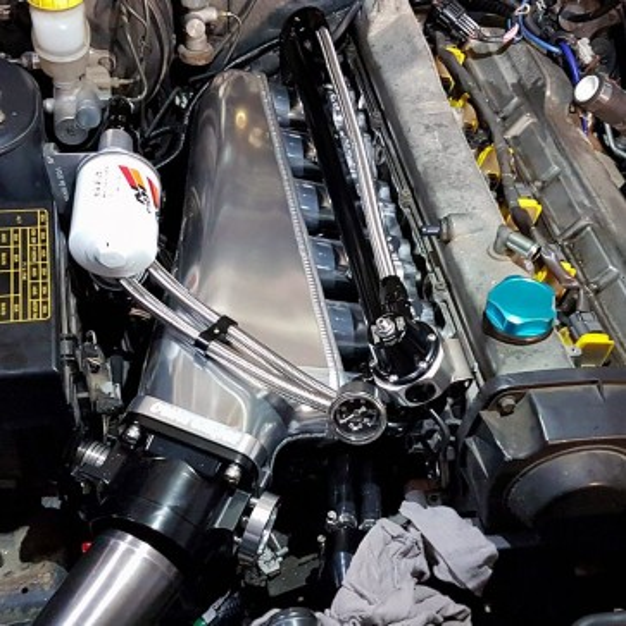 Otaku Garage Billet Intake Manifold/ Forward Facing Plenum RB25DET Spec 1 / 2 / NEO