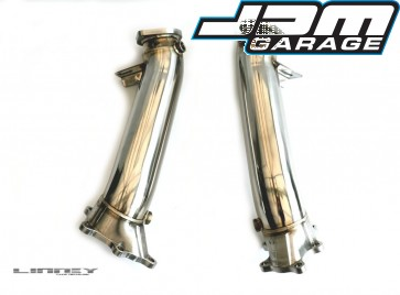 Linney Tuning R35 GT-R Billet Steel 90-76mm downpipes