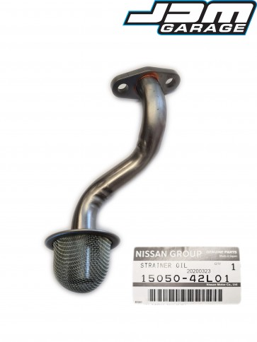 Genuine Nissan RB25DET Oil Strainer Pickup Pipe For Skyline R33 GTST R34 GTT Laurel C34 Stagea WC34 15050-42L01