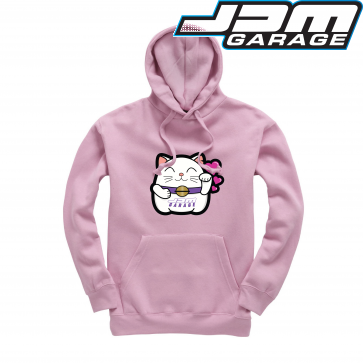 JDMGarageUK Japanese Cat Hearts Hoodie Mens & Womens