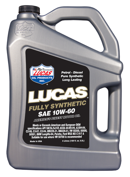 Lucas oils 10w60 fully synthetic engine oil jdm garage for Fully synthetic motor oil