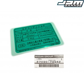 Genuine Nissan Aircon Engine Bay Strut Top Sticker For Nissan Silvia S15 Spec R Skyline R34 GTR V-Spec II 27090-79942