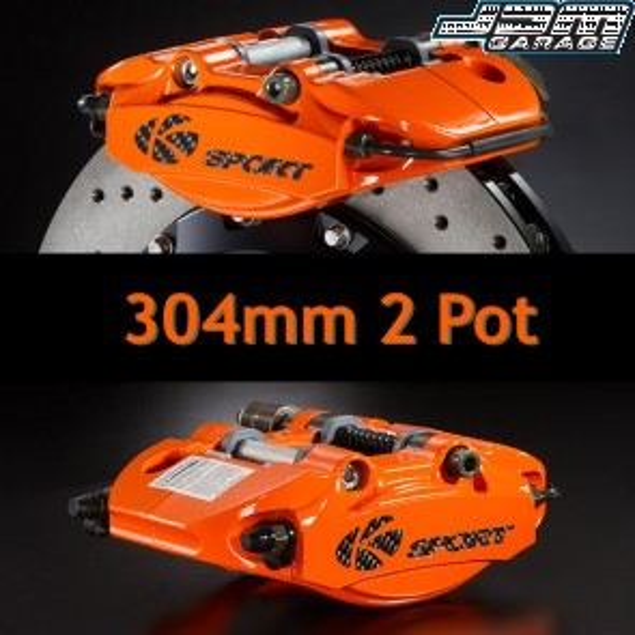 KSport Rear Brake Kit - 304mm 2 Pot
