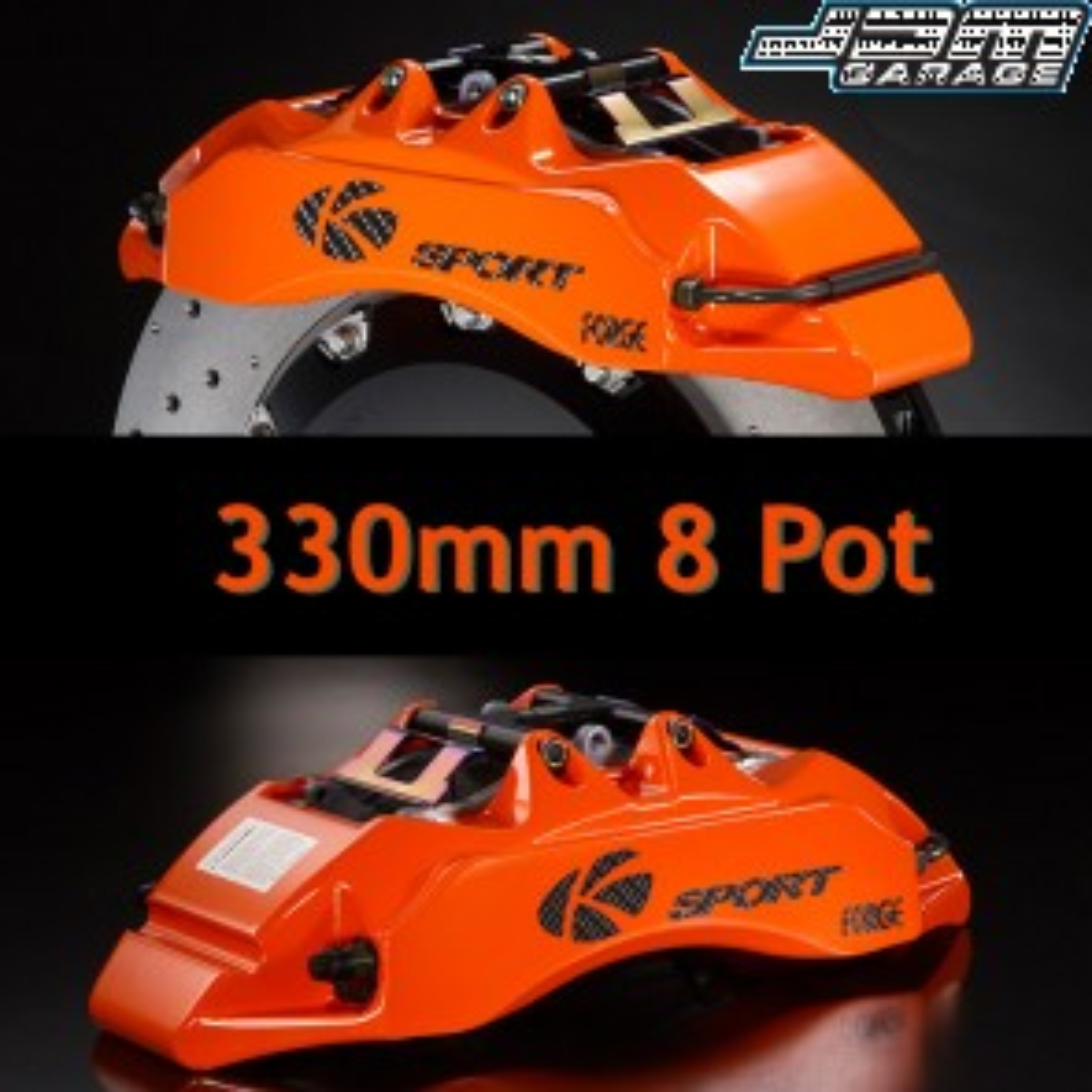 KSport Rear Brake Kit - 421mm Super 8 Pot