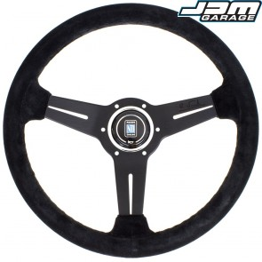 Nardi Classic Steering Wheel - Suede with Black Spokes - 330mm