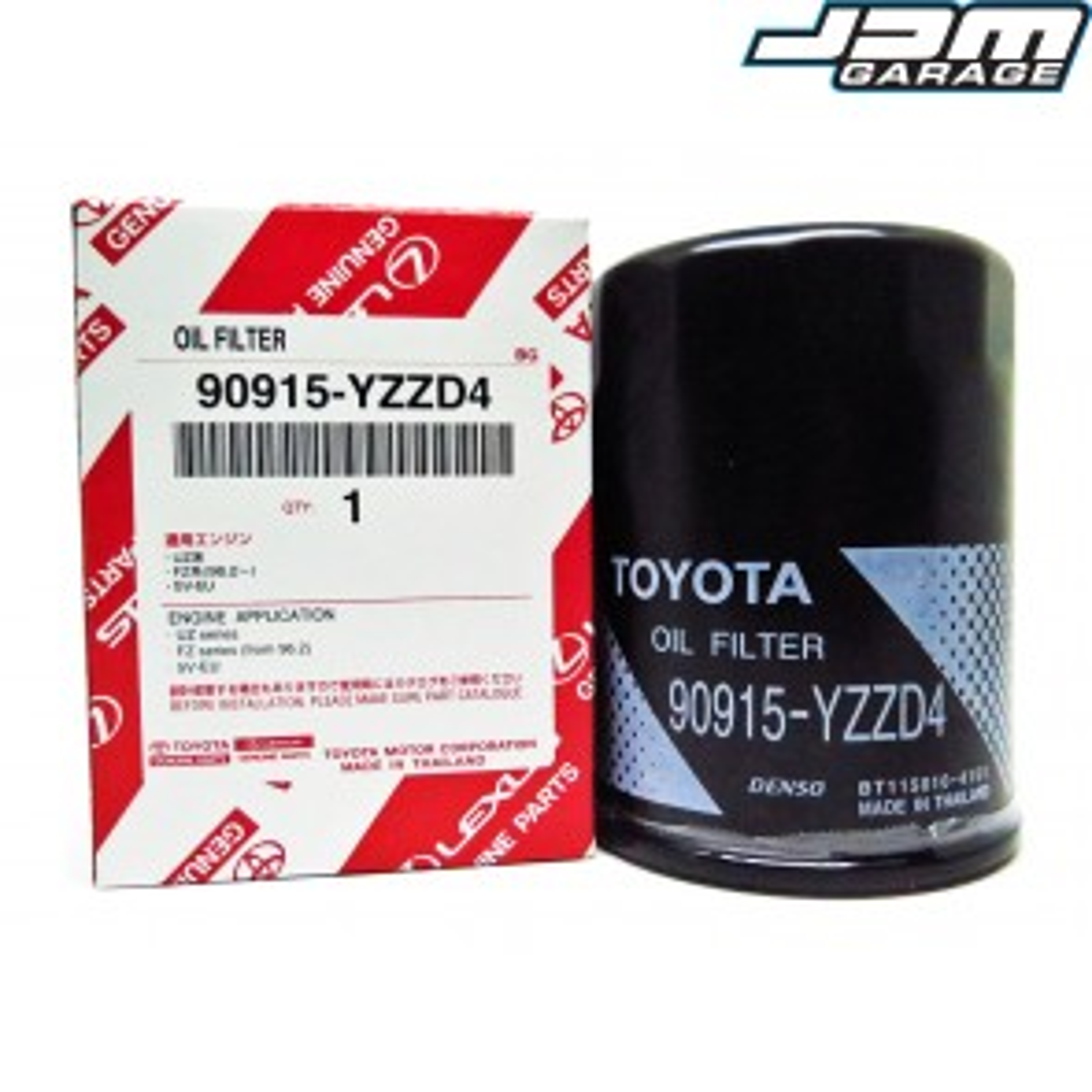 Genuine Oil Filter Fits Toyota Supra MK4 JZA80 / Cresta / Chaser / Mark II / Lexus IS300 / GS300 1JZ 2JZ-GE/GTE 90915-YZZD4