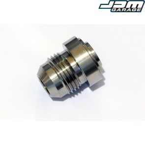 """AN-8 (AN8 JIC) 3/4"""" Weld On Male Hose Fitting Bung Stainless Steel"""
