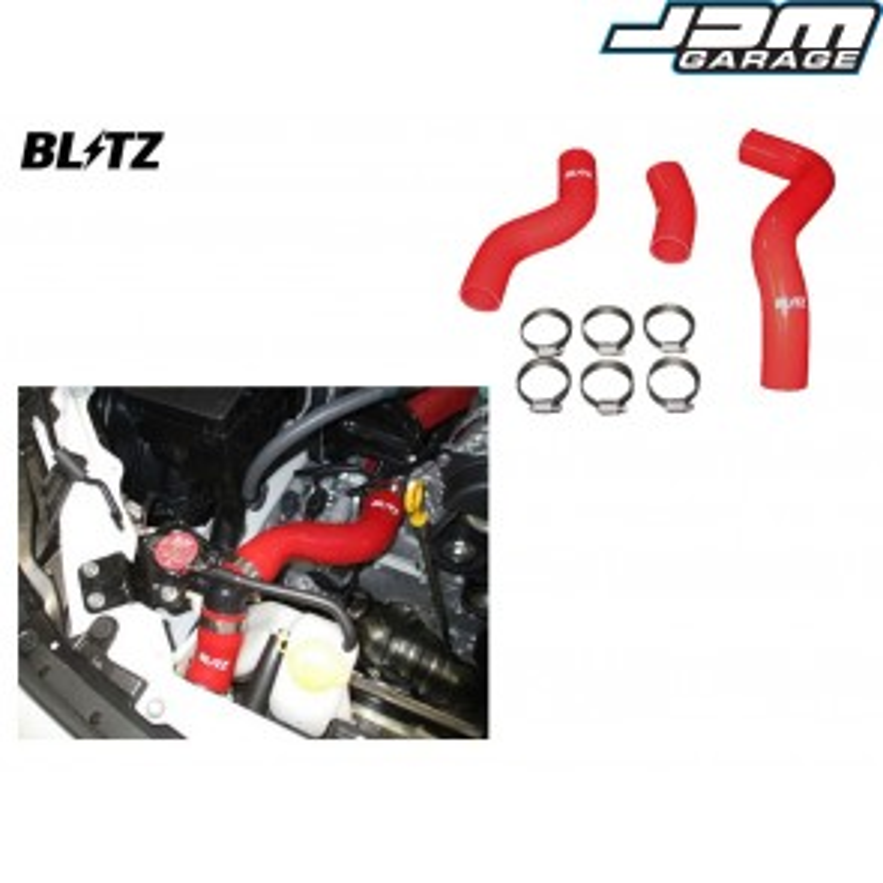 Blitz Red Silicone Radiator Hose Kit  For Toyota GT86 & Subaru BRZ