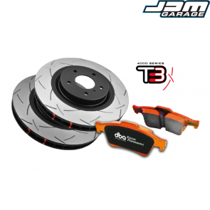 DBA 4000 Series Rear Brake Kit - T3 - For Mitsubishi Evo Evolution 5 V 6 VI 7 VII 8 VIII 9 IX