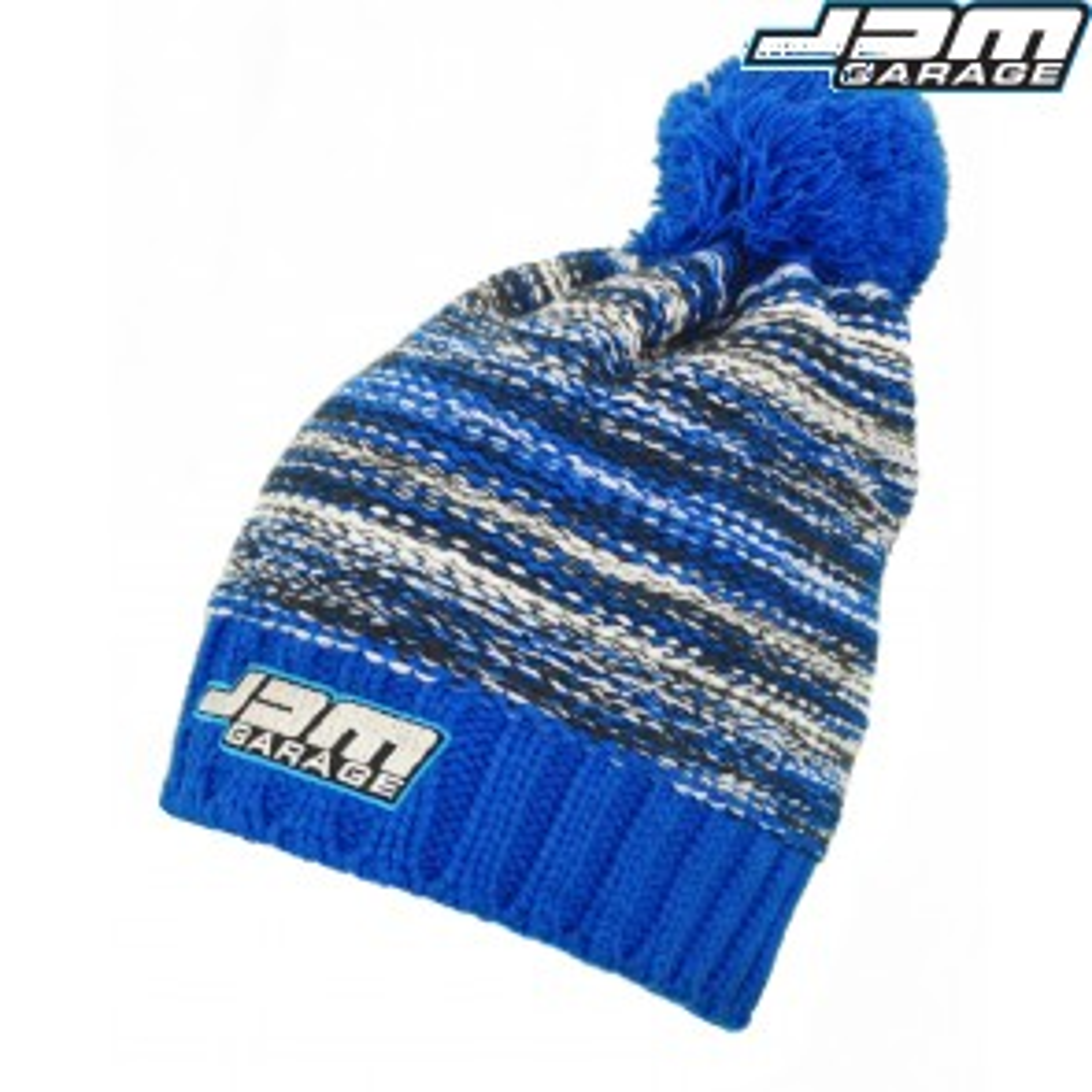 JDM Garage Slalom Boarder Beanie - Blue / Navy / White