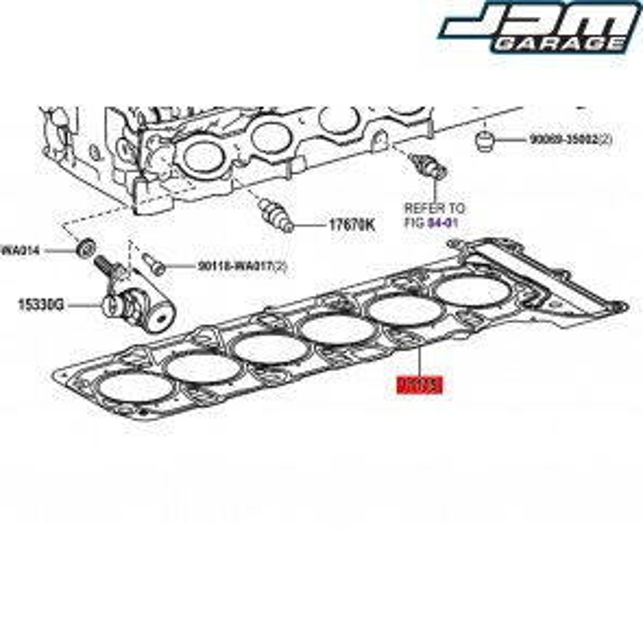 Genuine Toyota OEM 0.81 Headgasket For Supra GR J29 DB B48 B58 11115-WAA03