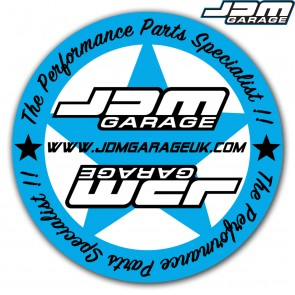 JDM Garage Sticker - Round 75mm