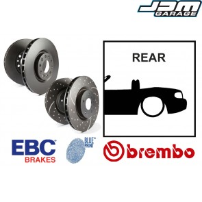 OE Replacement & EBC GD Series Rear Brake Discs - Mazda MX5 Mk3 NC 05-15