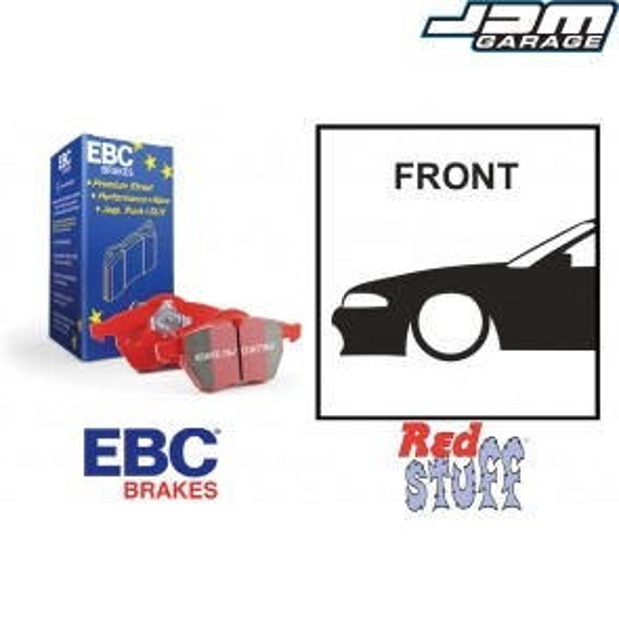EBC Redstuff Front Brake Pads - Nissan Skyline R32 R33 GTST R34 GTT GTR