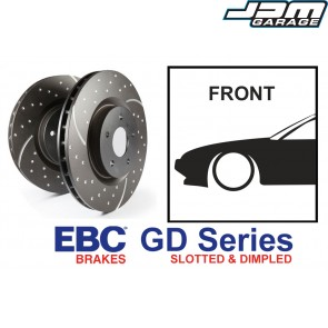 EBC GD Series Slotted and Dimpled Front Brake Discs - Nissan Silvia S14 S15 200SX