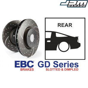 EBC GD Series Slotted and Dimpled Rear Brake Discs - Nissan Silvia S14 S15 200SX