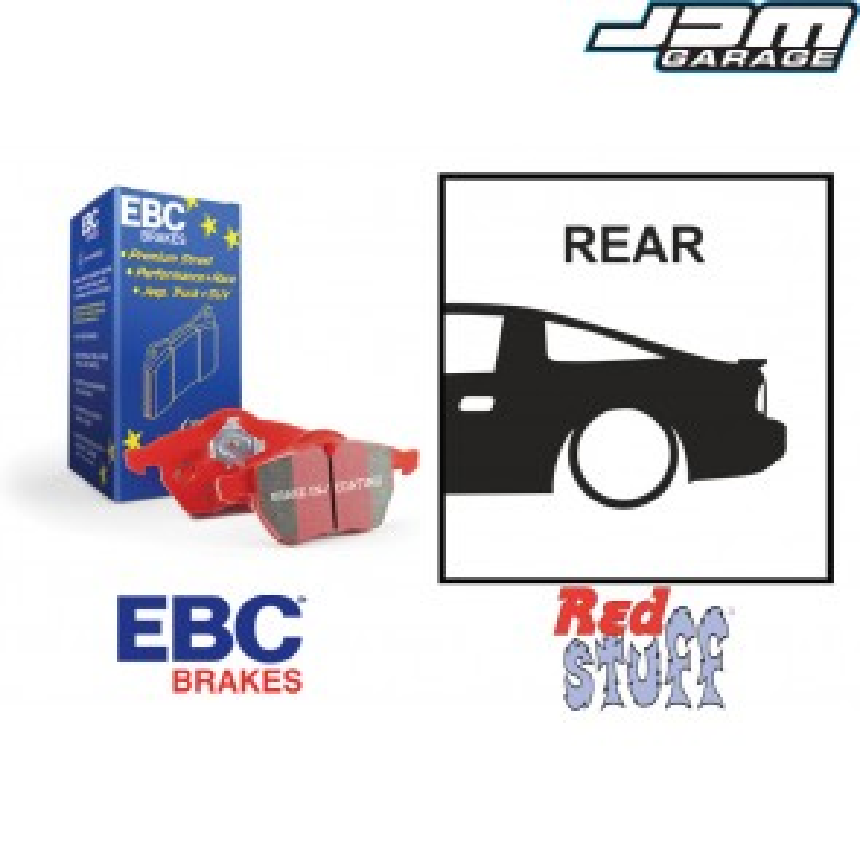 EBC Redstuff Rear Brake Pads - Nissan 180SX 200SX S13 S14 S15