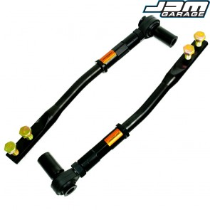 V2 Black Edition Front Kinked Tension Arms with Rod Ends For Nissan Skyline R32 R33 GTST GTT / Silvia S13 S14 S15 / 300ZX Z32