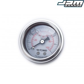 Tomei Japan 100PSI Fuel Pressure Gauge White