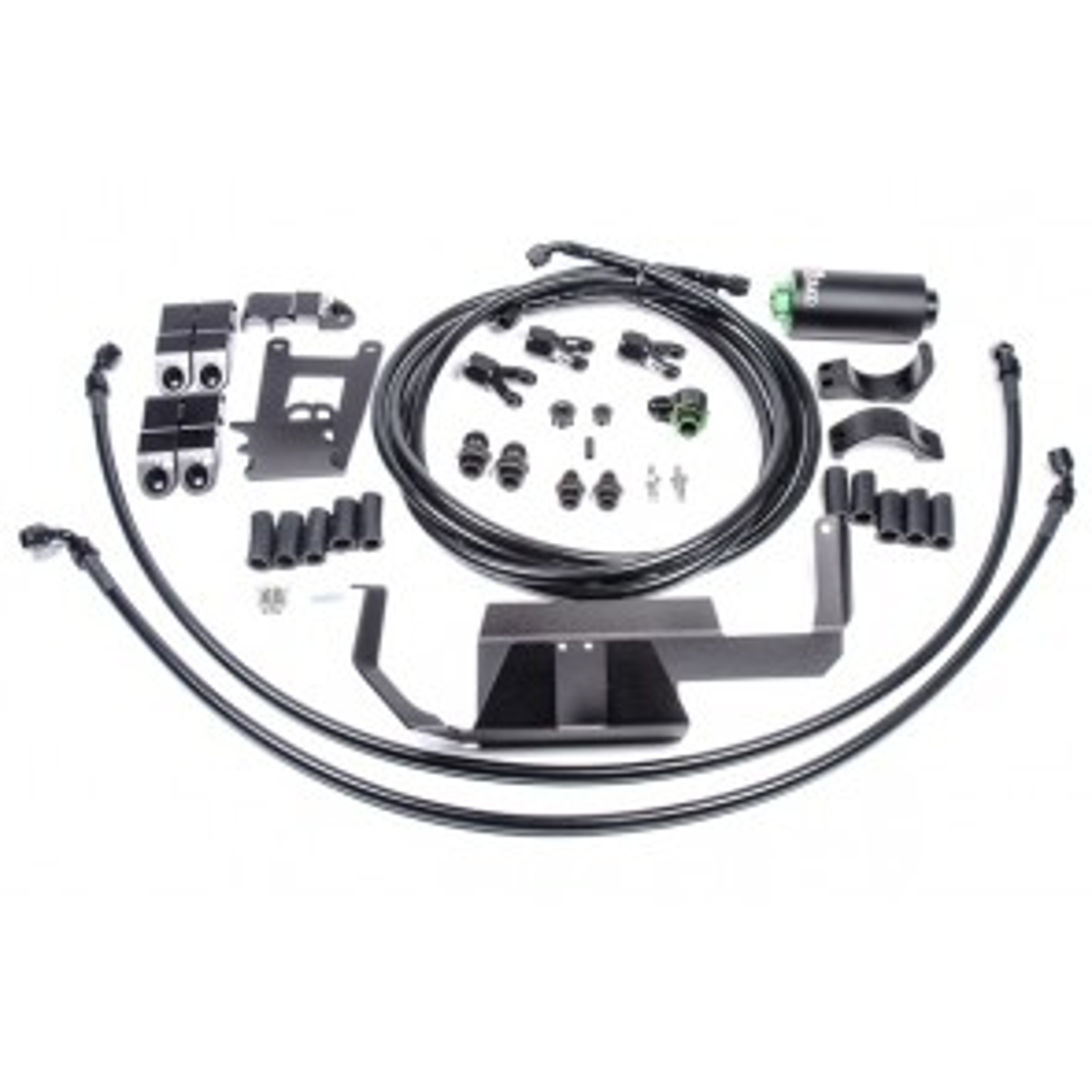 Radium Fuel Pump / Filter Holder Feed Kit with Microglass Fuel Filter Nissan GTR GT-R R35 09+ VR38DETT