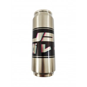 JDMGarageUK Black Blur Square Stainless Steel Water Bottle Thermos 500ml