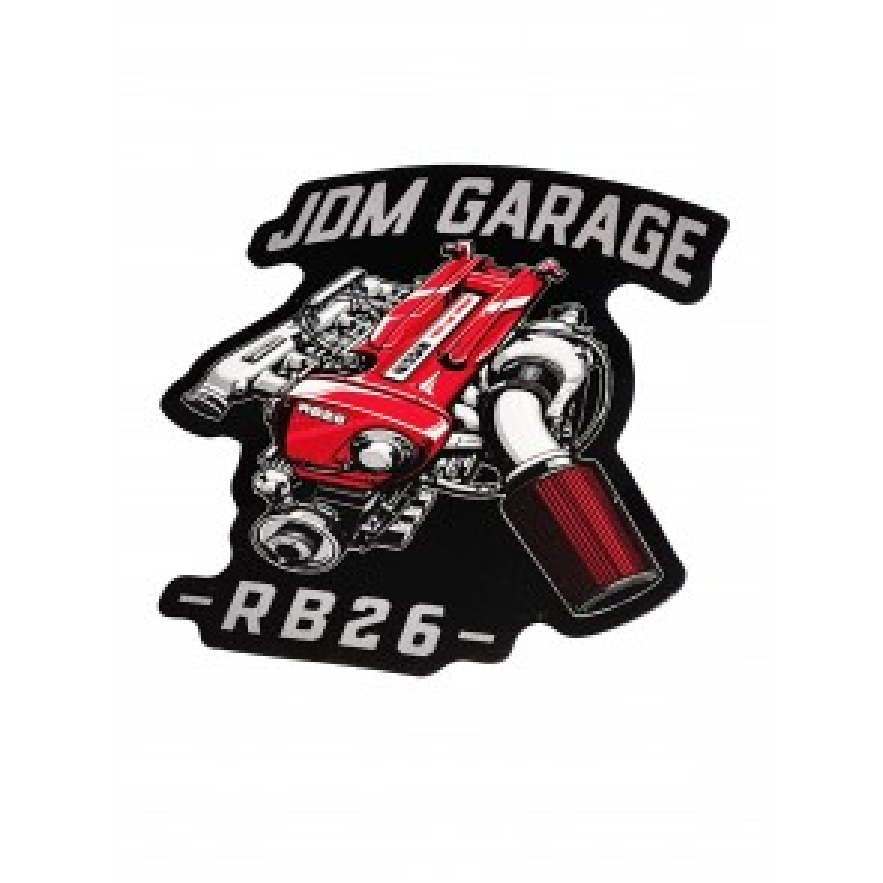 JDMGarageUK RB26 Sticker Black & Grey