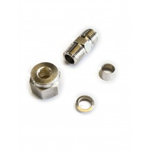 """Haltech 1/4"""" Stainless Compression Fitting Kit"""