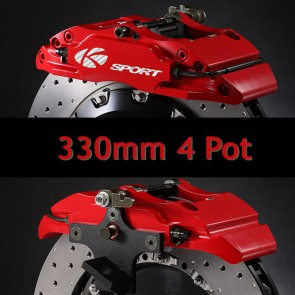 KSport Rear Brake Kit - 330mm 4 Pot