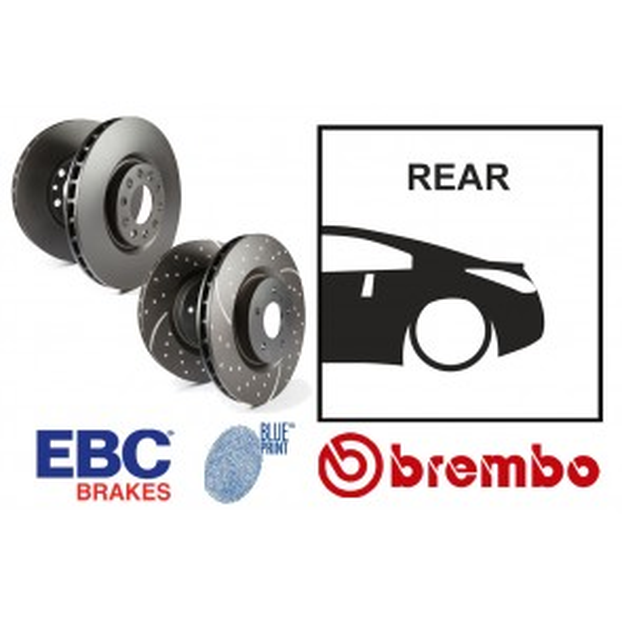 OE Replacement & EBC GD Series Rear Brake Discs - Nissan 350Z Z33