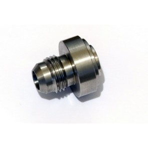 """AN-6 (AN6 JIC) 9/16"""" Weld On Male Hose Fitting Bung Stainless Steel"""
