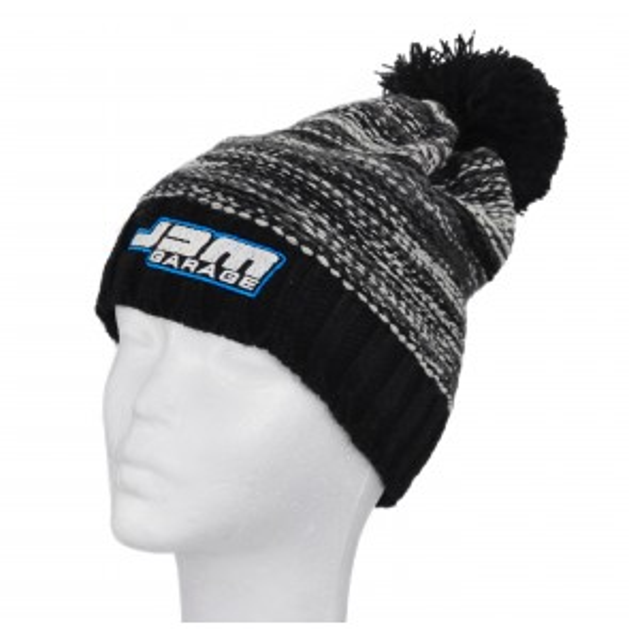 JDM Garage Slalom Boarder Beanie - Black / Grey