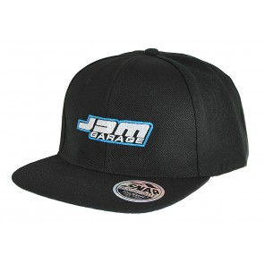 JDM Garage Original Flat Peak Snap Back Cap - Black