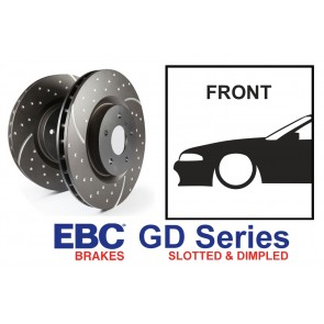 EBC GD Series Slotted and Dimpled Front Brake Discs - Nissan Skyline R32 R33 GTST R34 GTT GTR