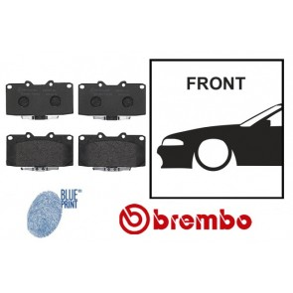OE Replacement Front Brake Pads - Nissan Skyline R32 R33 GTST R34 GTT GTR Stagea WC34 Cedric Y34