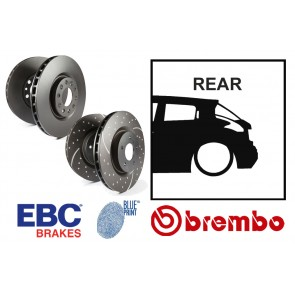 OE Replacement & EBC GD Series Rear Brake Discs - Nissan Juke