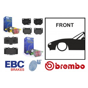 OE Replacement & EBC Greenstuff / Yellowstuff Front Brake Pads - Mazda MX5 Mk1 NA 90-98