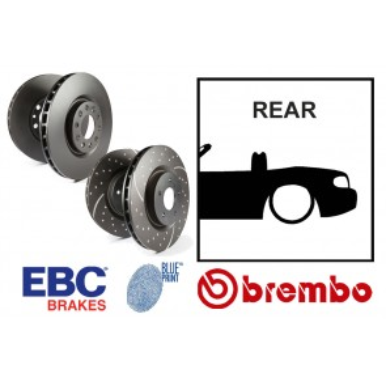 OE Replacement & EBC GD Series Rear Brake Discs - Mazda MX5 Mk3 NC 05-15