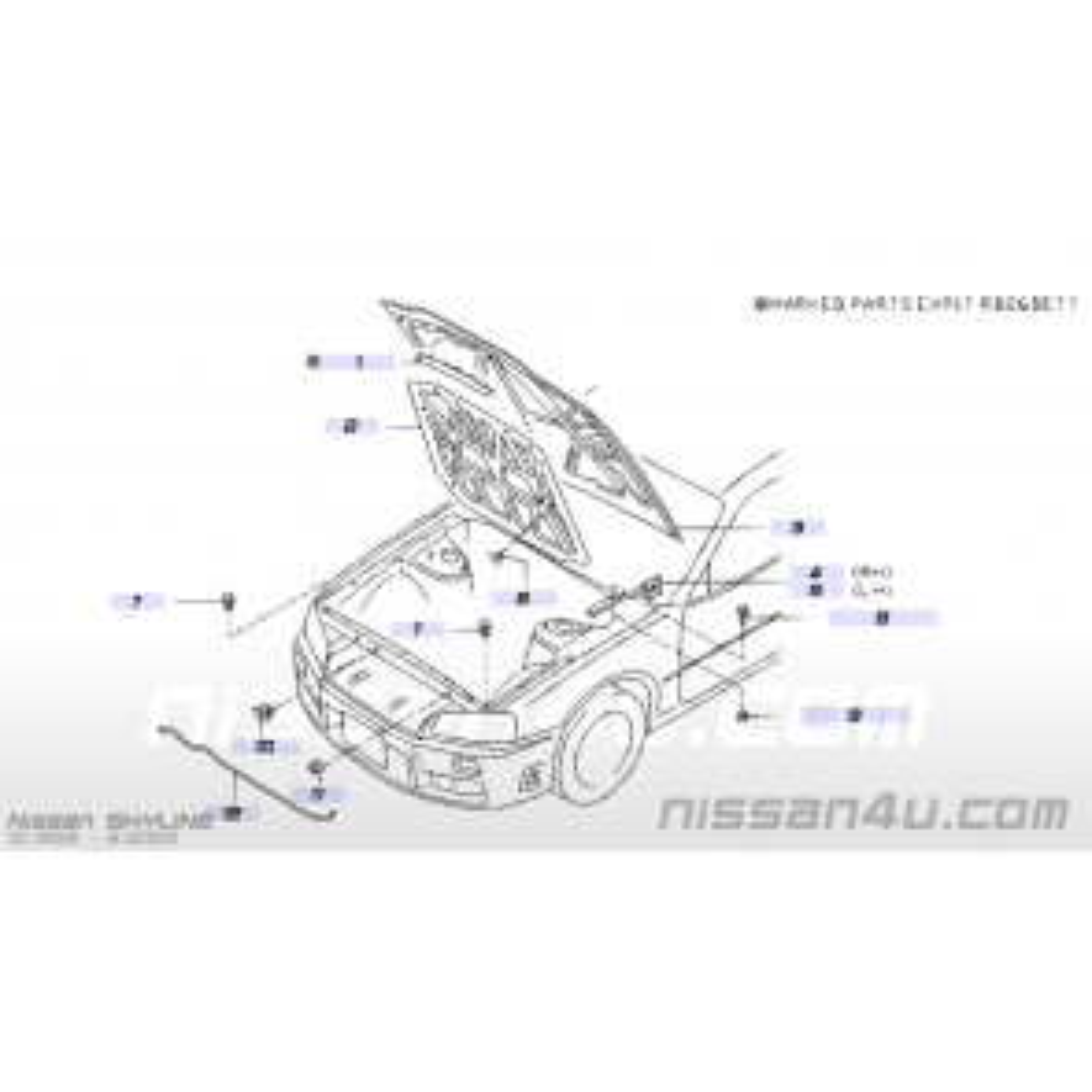 Nissan Skyline R34 Gtr Bonnet Hinge Left Hand