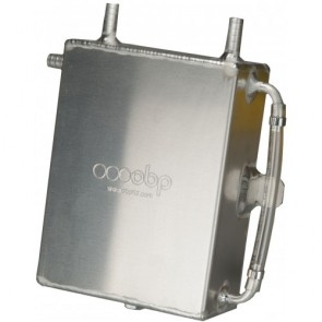 OBP 2 Litre Square Bulk Head Mount Oil Catch Tank - Baffled Optional