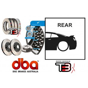 DBA T3 Rear Brake Discs / Rotors & Bells - Nissan R35 GTR