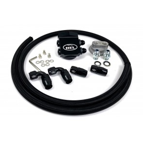 HEL Performance Oil Filter Relocation Kit Unviersal