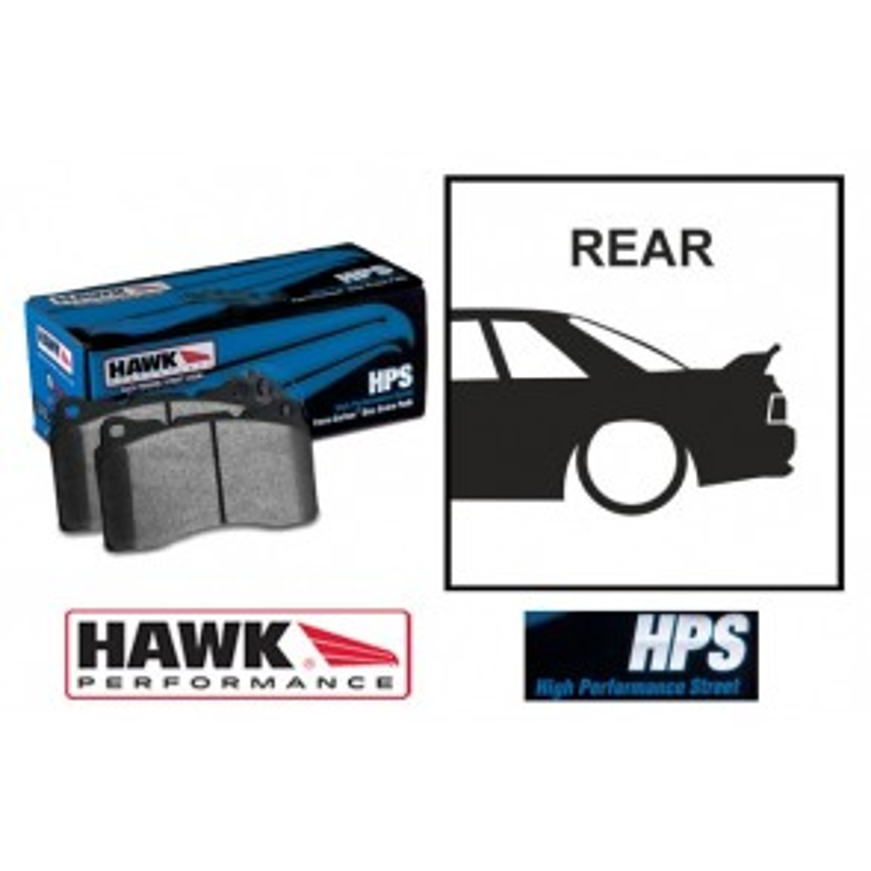 Hawk Rear Brake Pads - Subaru Impreza WRX STI 2004 - 2015