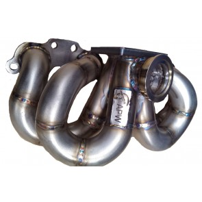 APW Exhaust Manifold 200SX S14 S15  SR20DET Top Mount Ram Style Stainless Steel