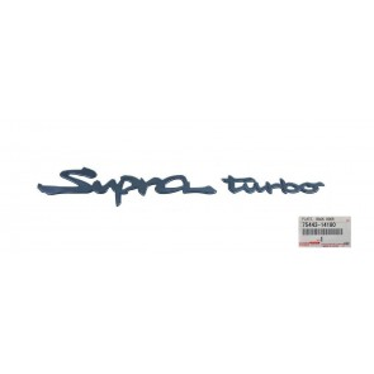 Rear Toyota 'Supra Turbo' Emblem Badge Fits Toyota Supra MK4 JZA80 75443-14180