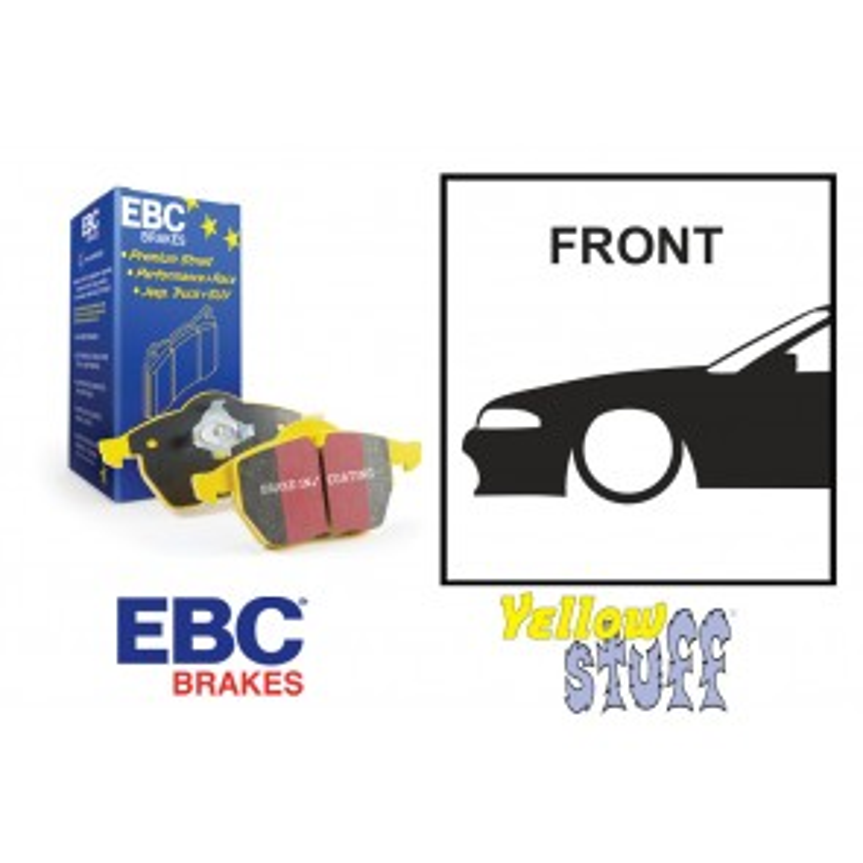 EBC Yellowstuff Front Brake Pads - Nissan Skyline R32 R33 GTST R34 GTT GTR